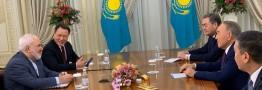 ظریف با رهبر قزاقستان دیدار کرد