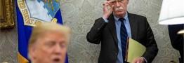 مشاجره لفظی ترامپ و بولتون پیش از اخراج از کاخ سفید بر سر ایران