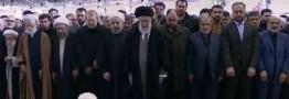 رهبر معظم انقلاب بر پیکر آیت الله هاشمی رفسنجانی نماز اقامه کردند