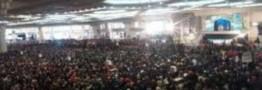 حضور گسترده مردم در آیین تشییع شهدای آتش نشان درمصلای امام خمینی(ره)