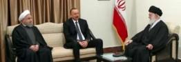 رهبر انقلاب در دیدار رئیسجمهوری آذربایجان:خیر و مصلحت دولت آذربایجان در همراهی با احساسات مذهبی مردم است