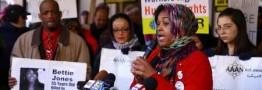 تجمع مردم شیکاگو در اعتراض به فرمان ضد مهاجرتی ترامپ