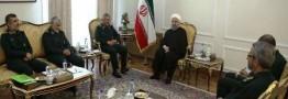 روحانی در دیدار فرماندهان سپاه: وحدت همه نیروها برای تحقق رهنمودهای رهبری و خدمت به مردم ضروری است